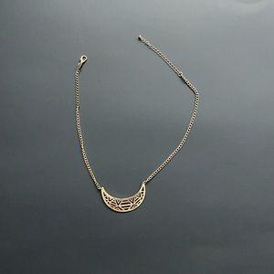 Jewelry - Geometric Crescent Moon Necklace
